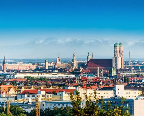 Munich et les Alpes